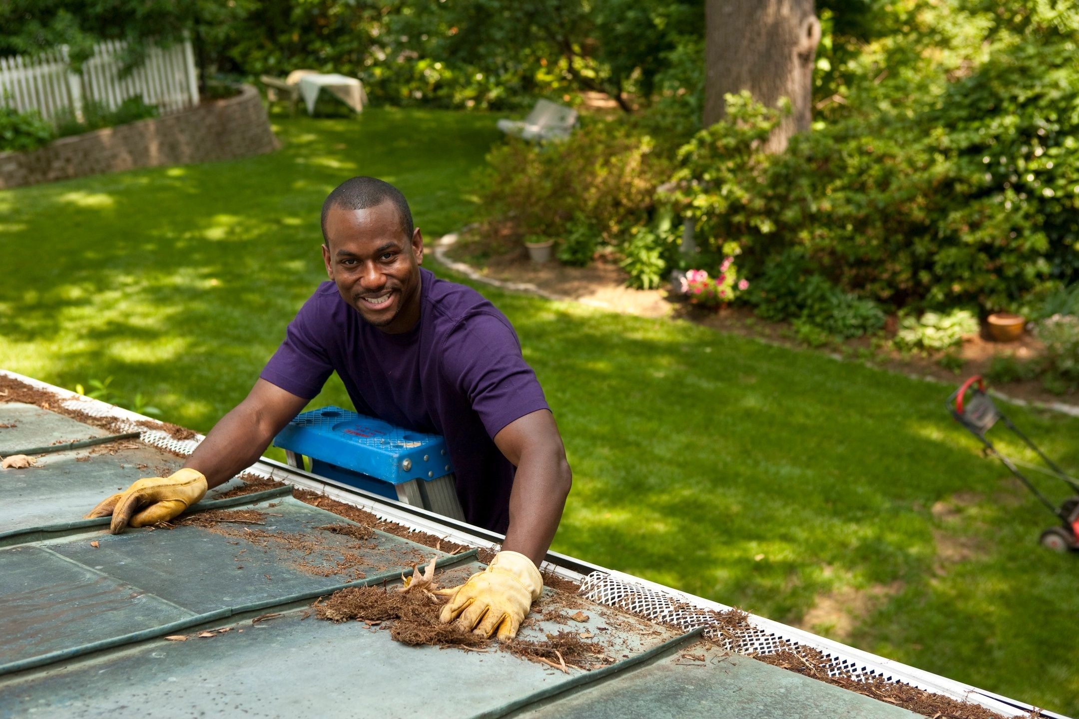 clean rain gutters are a top priority in the summer months